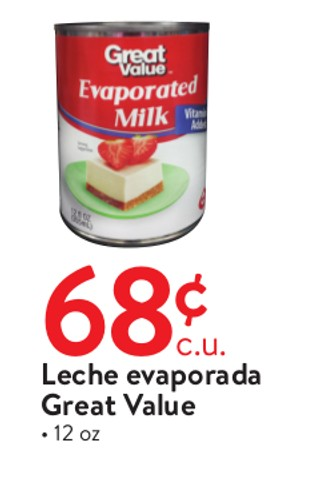 Leche Evaporada Great Value