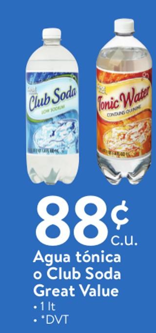 Agua Tónica o Club Soda Great Value