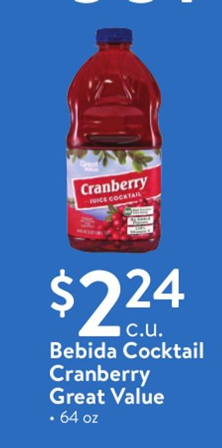 Bebida Cocktail Cranberry