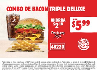 Combo de Bacon Triple Deluxe