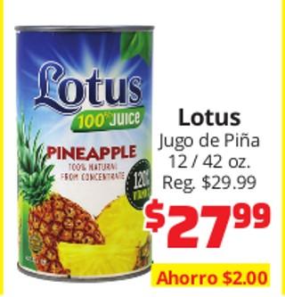 Lotus Jugo de Piña