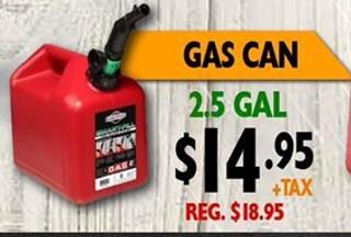 Gas Can de 2.5 Gal