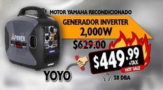 Motor Yamaha Recondicionador Generador Inverter 2,000 W Yoyo