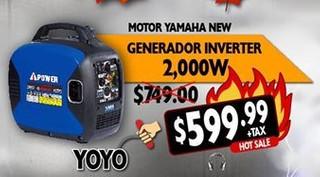 Motor Yamaha New Generador Inverter de 2,000 W