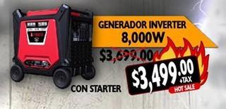 Generador Inverter 8,000 w