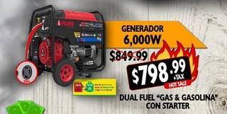 Generador 6,000 W