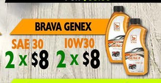 Brava Genex Sae 30 & 10W30
