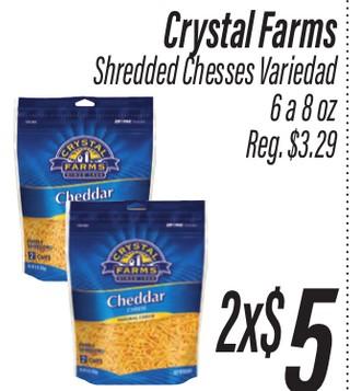 Crystal Farms Shredded Cheeses