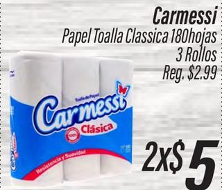 Carmessi Papel Toalla Classica