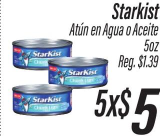 Starkist Atún en Agua o Aceite