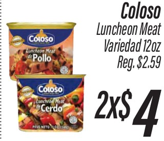 Coloso Luncheon Meat