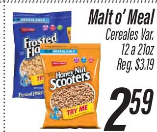 Malt O' Meal Cereales