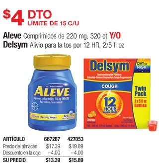 Aleve Y/O Delsym