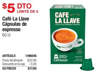 Café La Llave Cápsulas de espresso