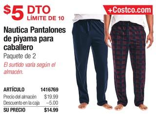 Nautica Pantalones de Piyama Para Caballero