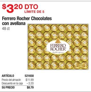 Ferrero Rocher Chocolates con Avellana