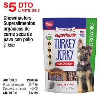 Chewmasters Superalimentos Orgánicos de Carne Seca