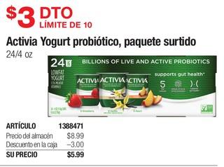Activia Yogurt Probiótico, Paquete Surtido