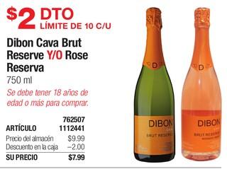 Dibon Cava Brut Reserve Y/O Rose Reserva