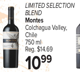 Limited Selection Blend Montes