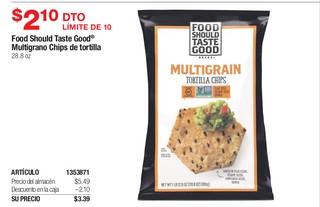 Food Should Taste Good Multigrano Chips de tortilla