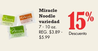 Miracle Noodle Variedad