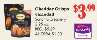 Cheddar Crips Variedad
