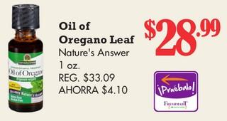 Oil Orégano Leaf