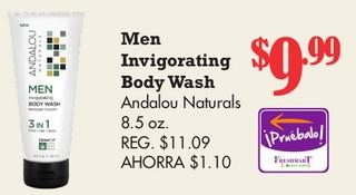 Men Invigorating Body Wash Andalou Naturals
