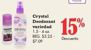Crystal Deodorant Variedad
