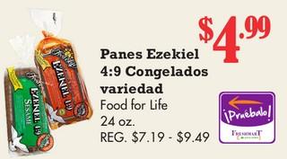 Panes Ezekiel 4:9 Congelados variedad Food for Life