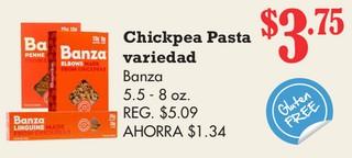 Chickpea Pasta variedad Banza