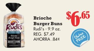 Brioche Burger Buns Rudi's