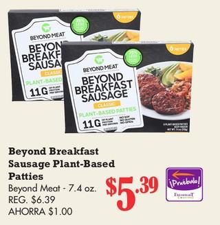 Beyond Breakfast Sausage Plant-Based Patties Beyond Meat