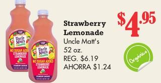 Strawberry Lemonade Uncle Matt´s