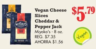 Vegan Cheese slices Cheddar & Pepper Jack Miyoko´s