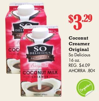 Coconut Creamer Orginal So Delicious