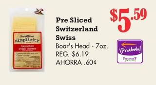 Pre Sliced Switzeland Swiss Boar´s Head