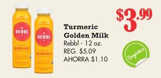 Turmeric Golden Milk Rebbl