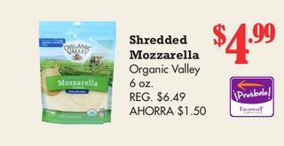 Sherdded Mozzarella Organic Valley