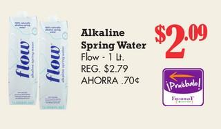 Alkaline Spriing Water Flow