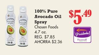 100% pure Avocado oil Spray Chosen Foods