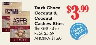 Dark Choco Coconut & Coconut Cashew Bites The GFB