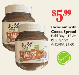 Hazelnut With Cocoa Spread