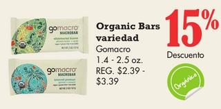 Organic Bars Variedad