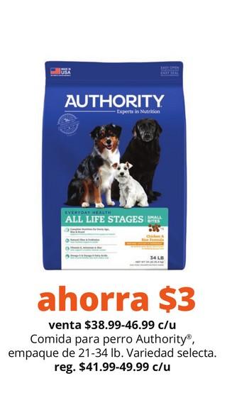 Comida para Perro Authority