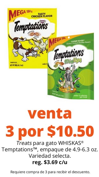 Treats para Gato Whiskas Temptations