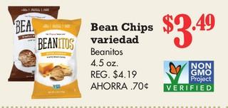 Bean Chips Variedad Beanitos 4.5 oz