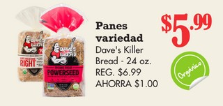 Panes Variedad Dave's Killer Bread
