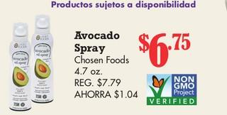 Avocado Spray Chosen Foods 4.7 oz